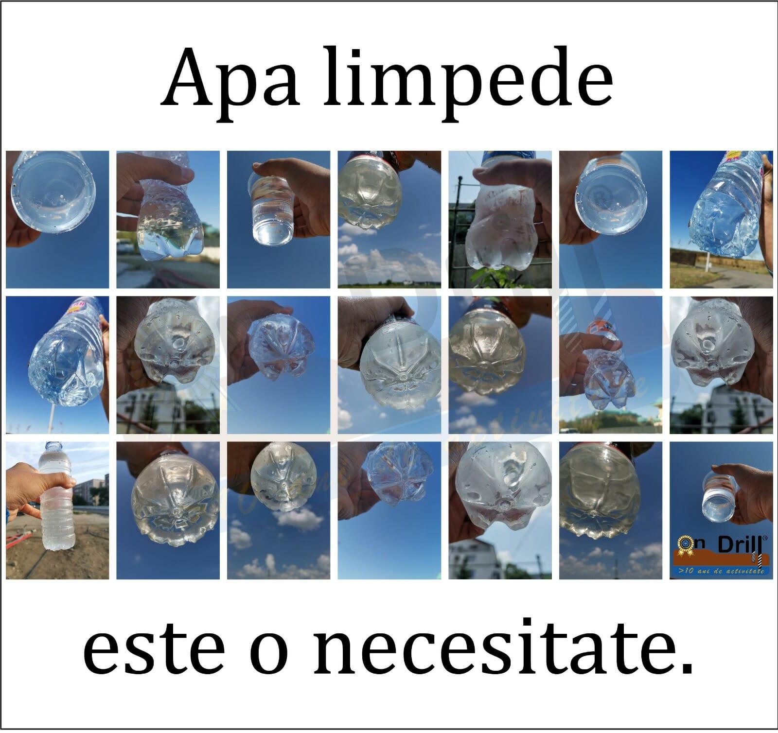 Apa limpede cristal din foraje