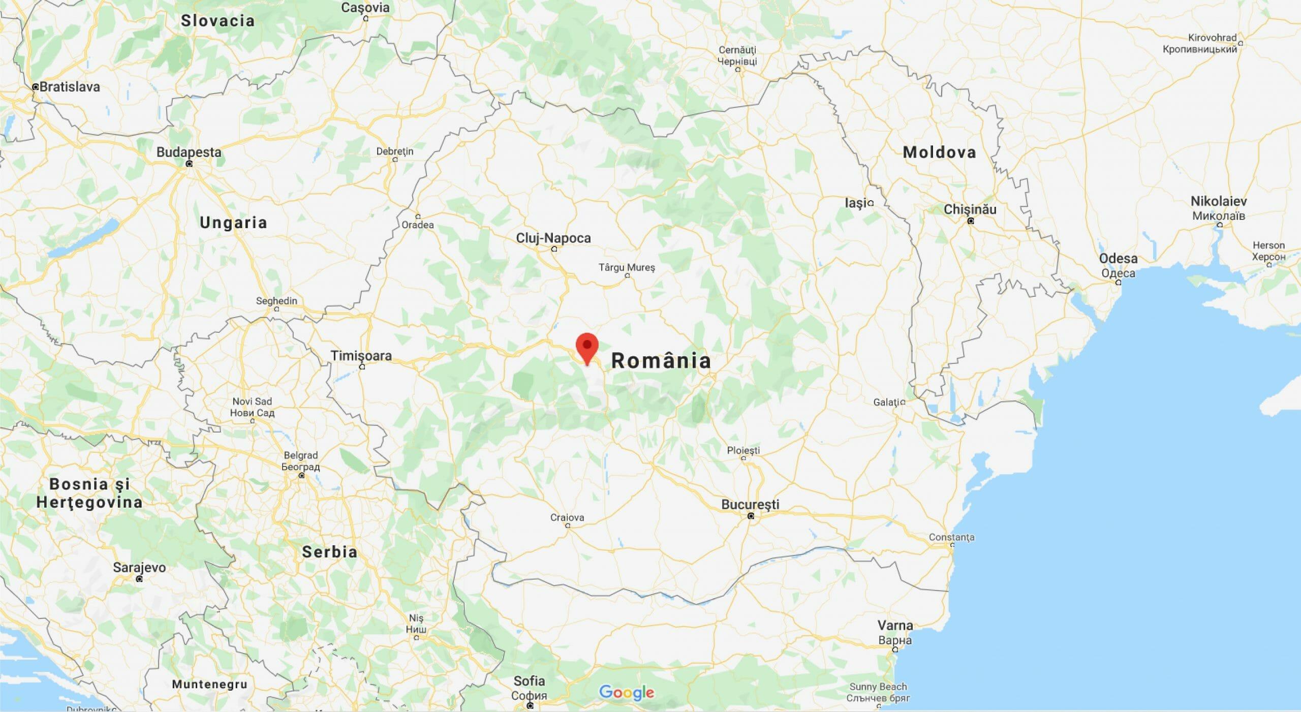 Localizare Romania Google Maps
